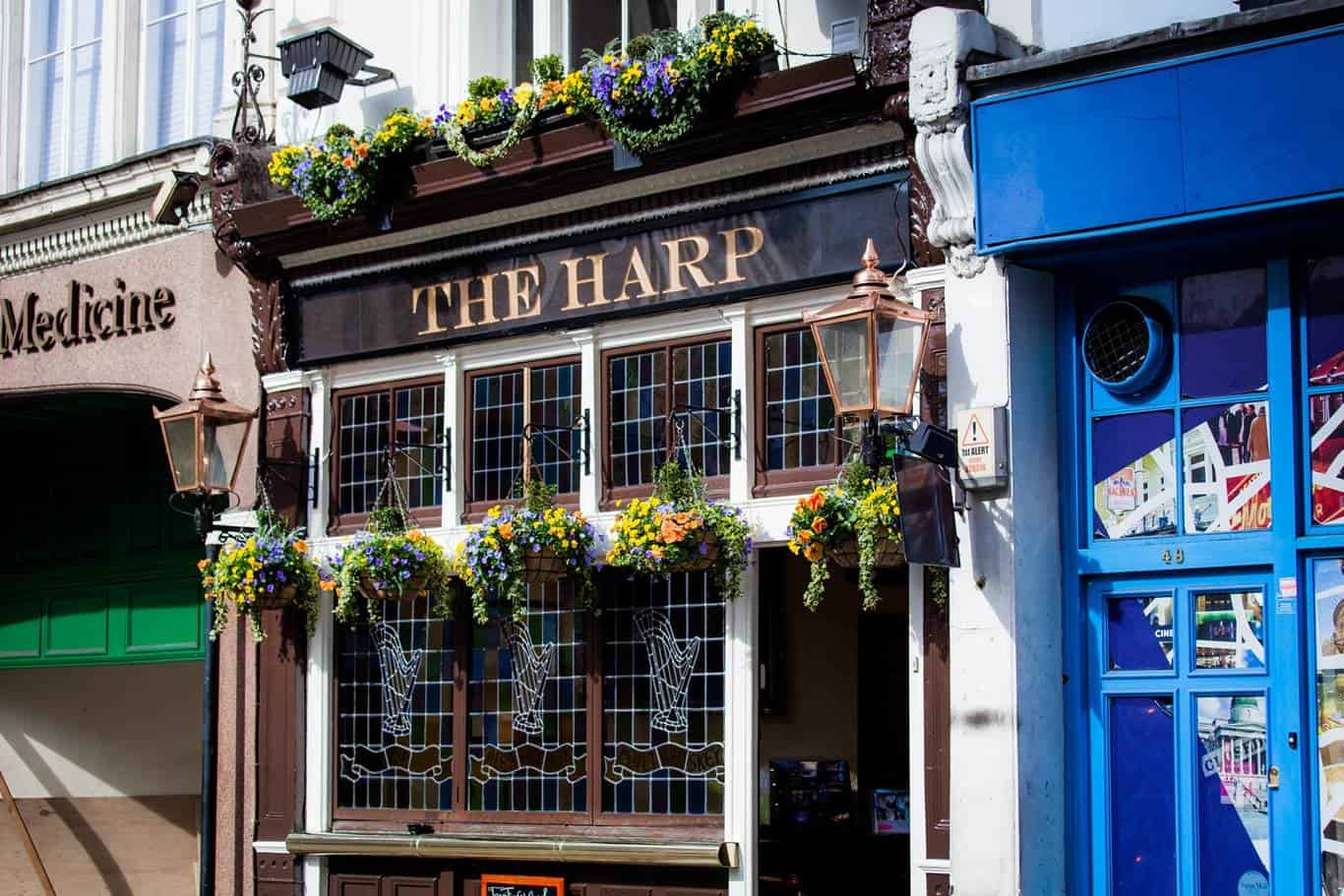 The Harp Covent Garden Exterior, best pubs in central London