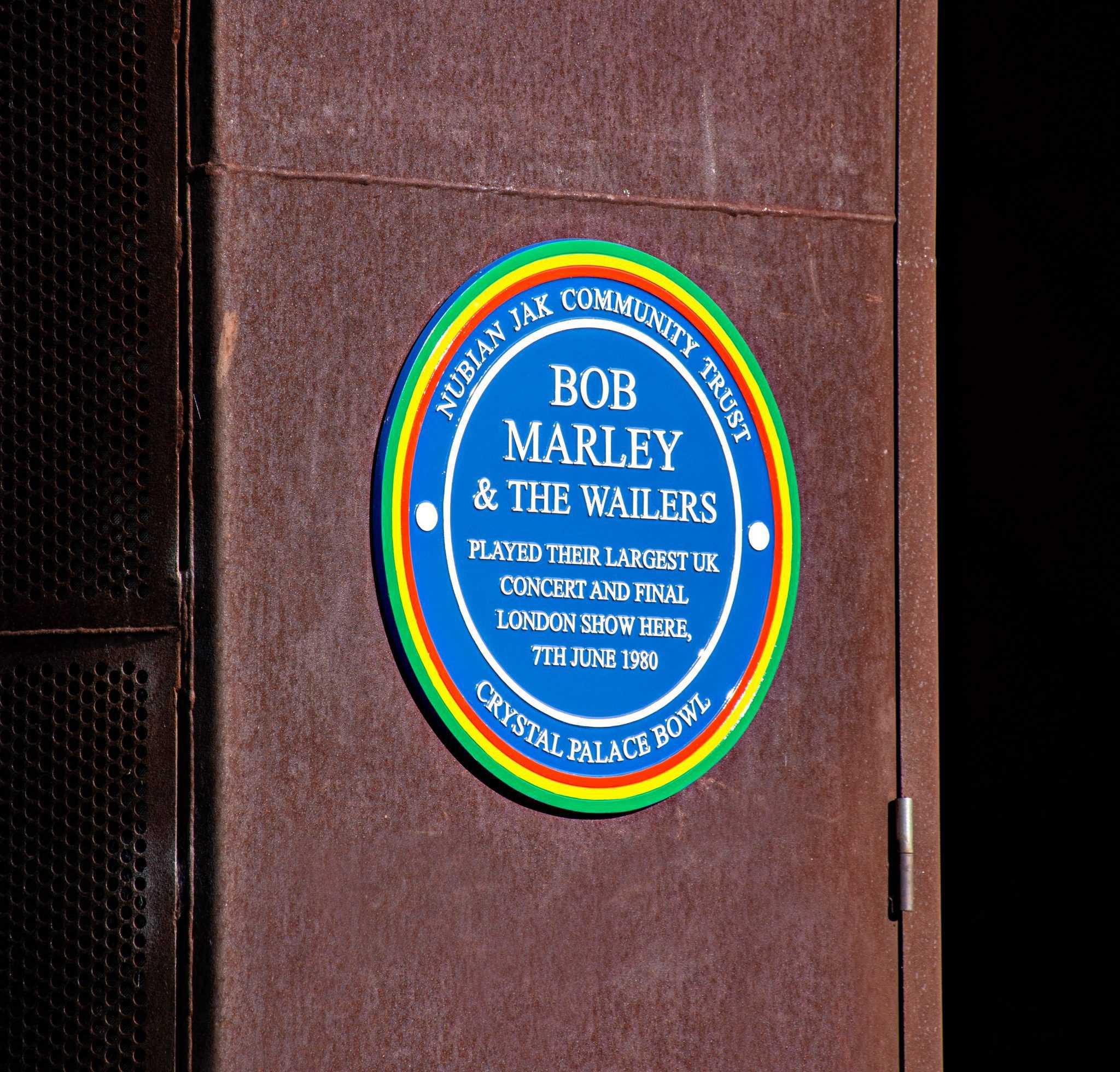 Bob Marley Blue Plaque at Crystal Palace Bowl, 2020