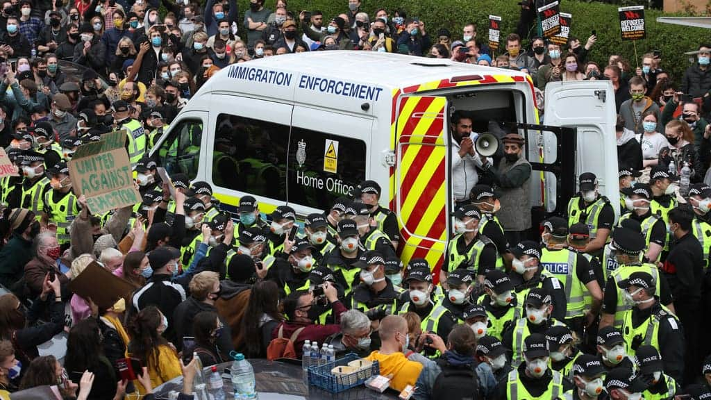 Sturgeon: Home Office has 'questions to answer' after Glasgow detentions spark protests