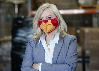 Tracy Brabin, MP for Batley and Spen and Labour candidate for the 2021 West Yorkshire mayoral election during a visit to the Ilkley brewery in Ilkley, West Yorkshire. Picture date: Thursday April 22, 2021.