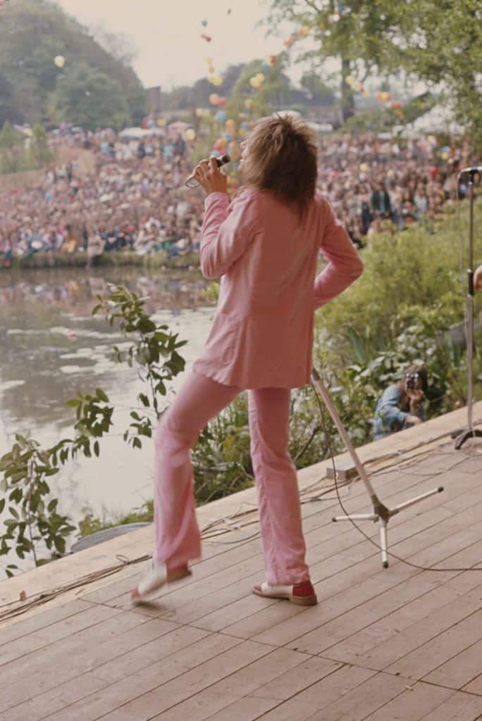 Rod Stewart and the Faces at Crystal Palace Bowl, 1971