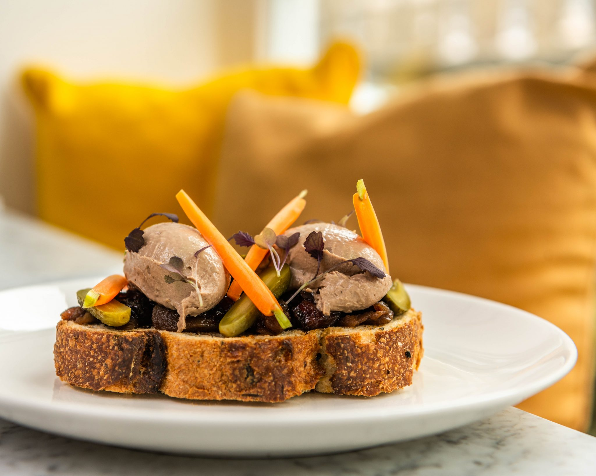 chicken liver parfait London Food and Drink Photography - LIV Restaurant Sloane Square | Photo: Nic Crilly-Hargrave