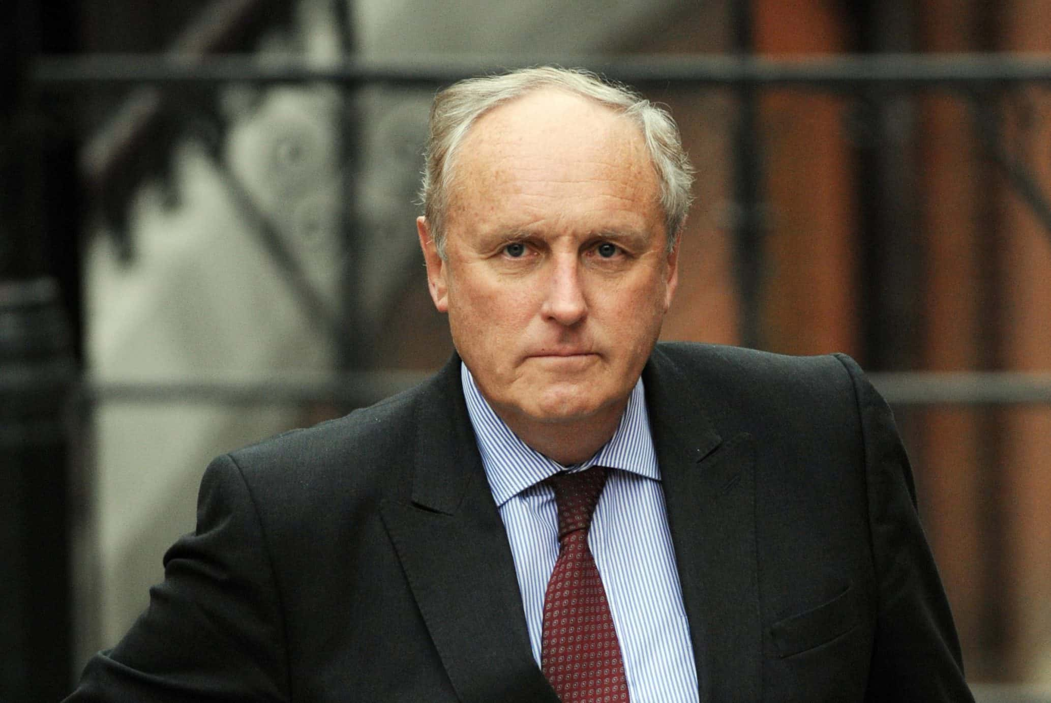 """File photo dated 9/2/2012 of Paul Dacre who has been appointed chairman and editor-in-chief of Associated Newspapers, in a move which will see him """"step back"""" from his role as editor of the Daily Mail from November, the paper's owners DMGT have said."""