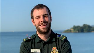 Paramedic Mike Jones. Credit;SWNS