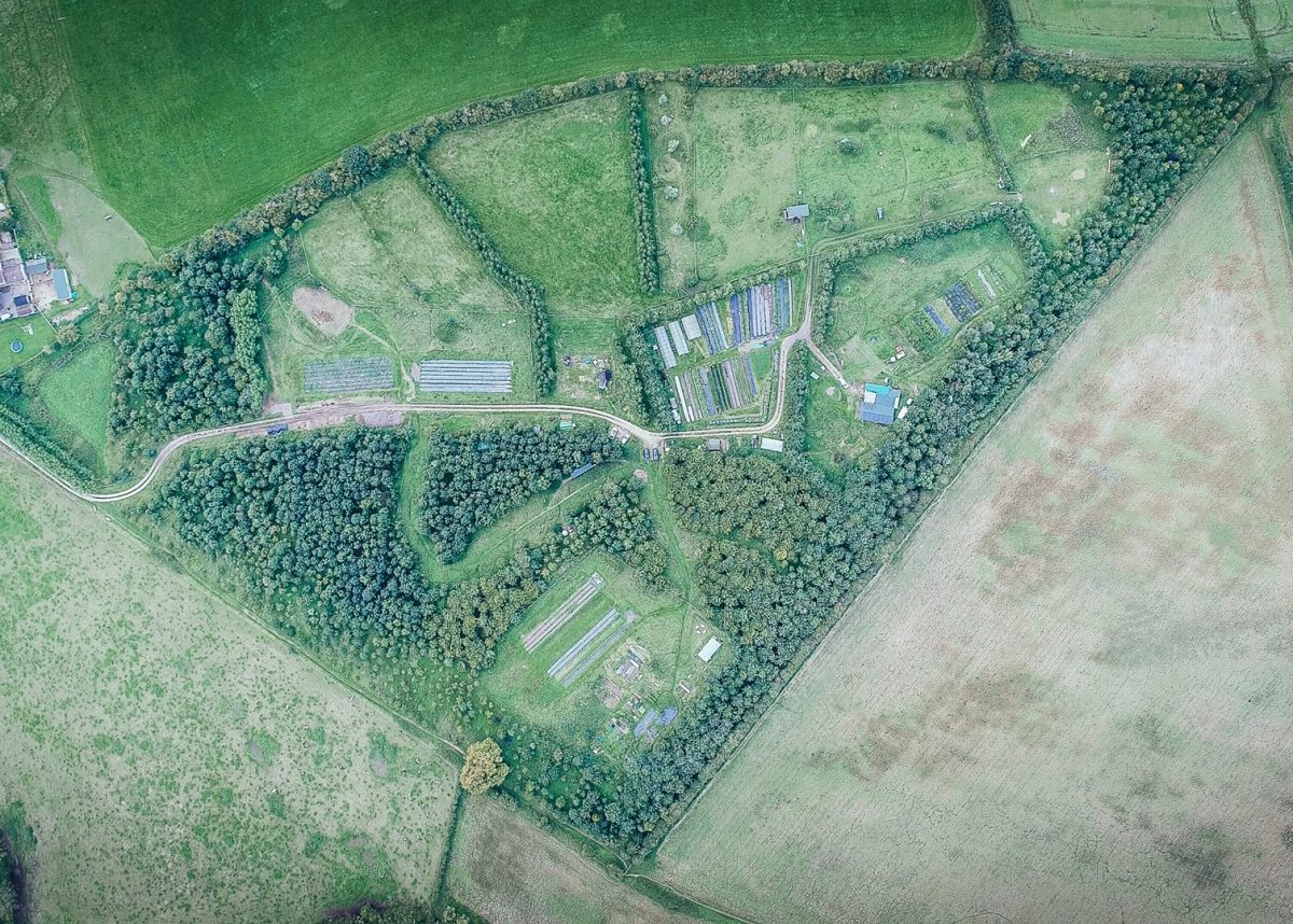 A Small Farm Future Chris Smaje Vallis veg from the air