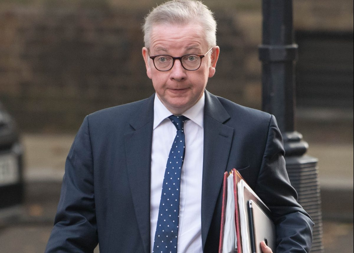 Chancellor of the Duchy of Lancaster Michael Gove in Downing Street, London, ahead of a Cabinet meeting at the Foreign and Commonwealth Office.