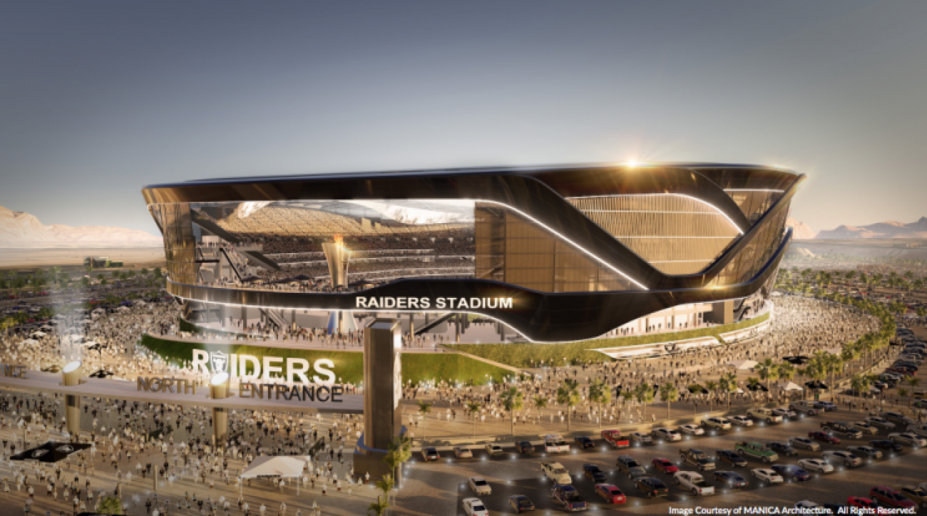 A photo rendering of the Las Vegas Stadium
