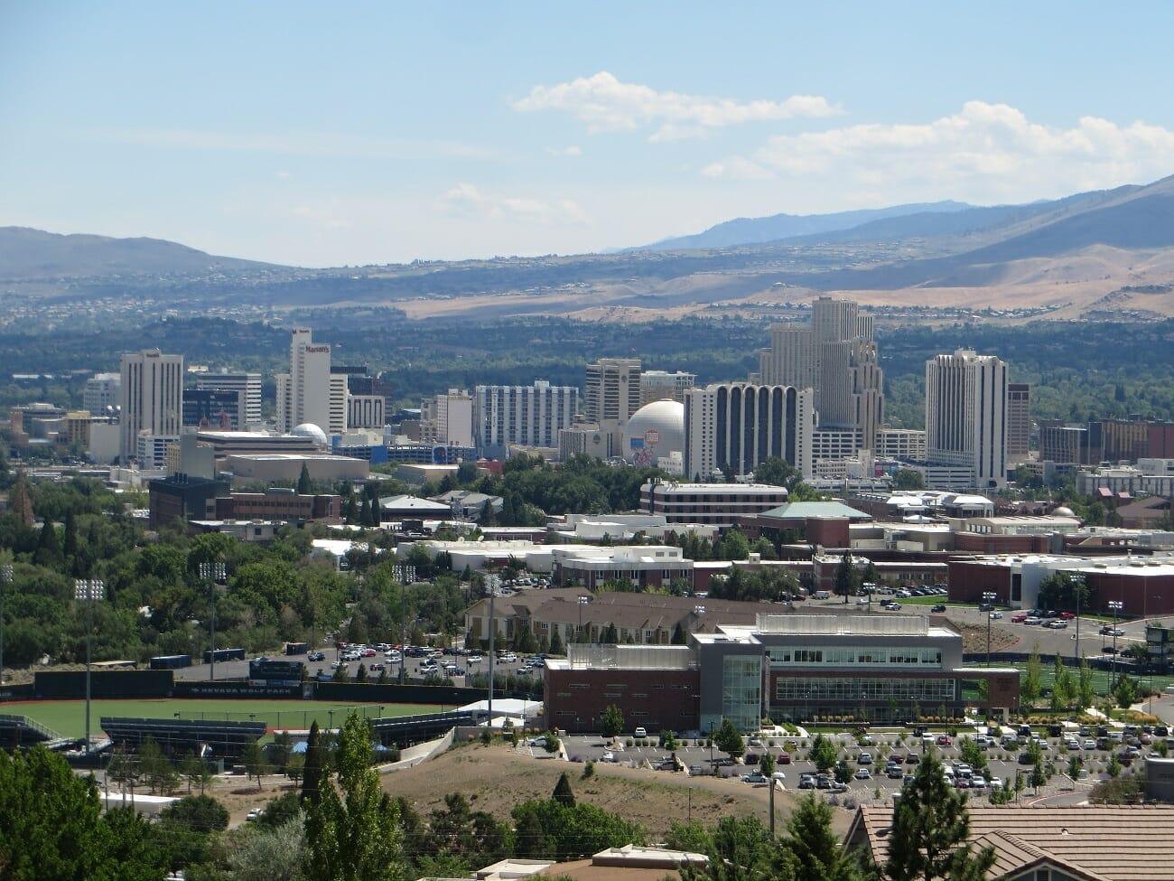 Reno, NV. Public domain photo via Wikimedia.