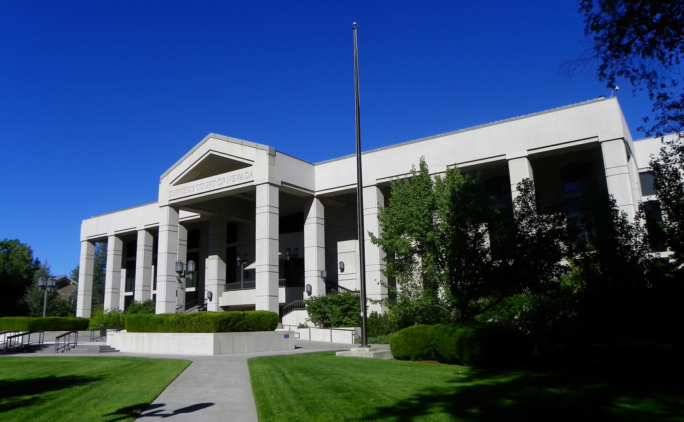 Nevada Supreme Court building in Carson City