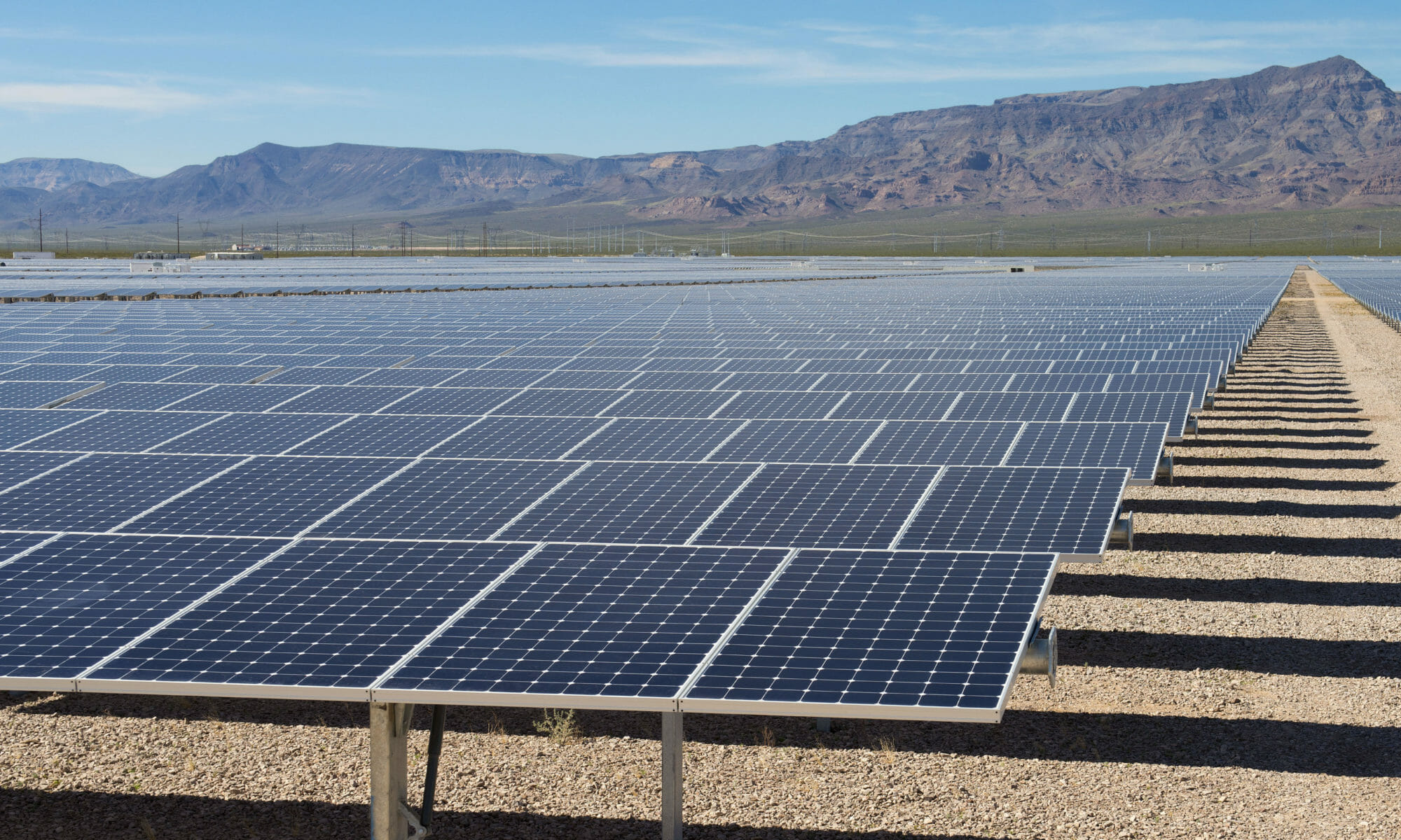 Solar field in Nevada