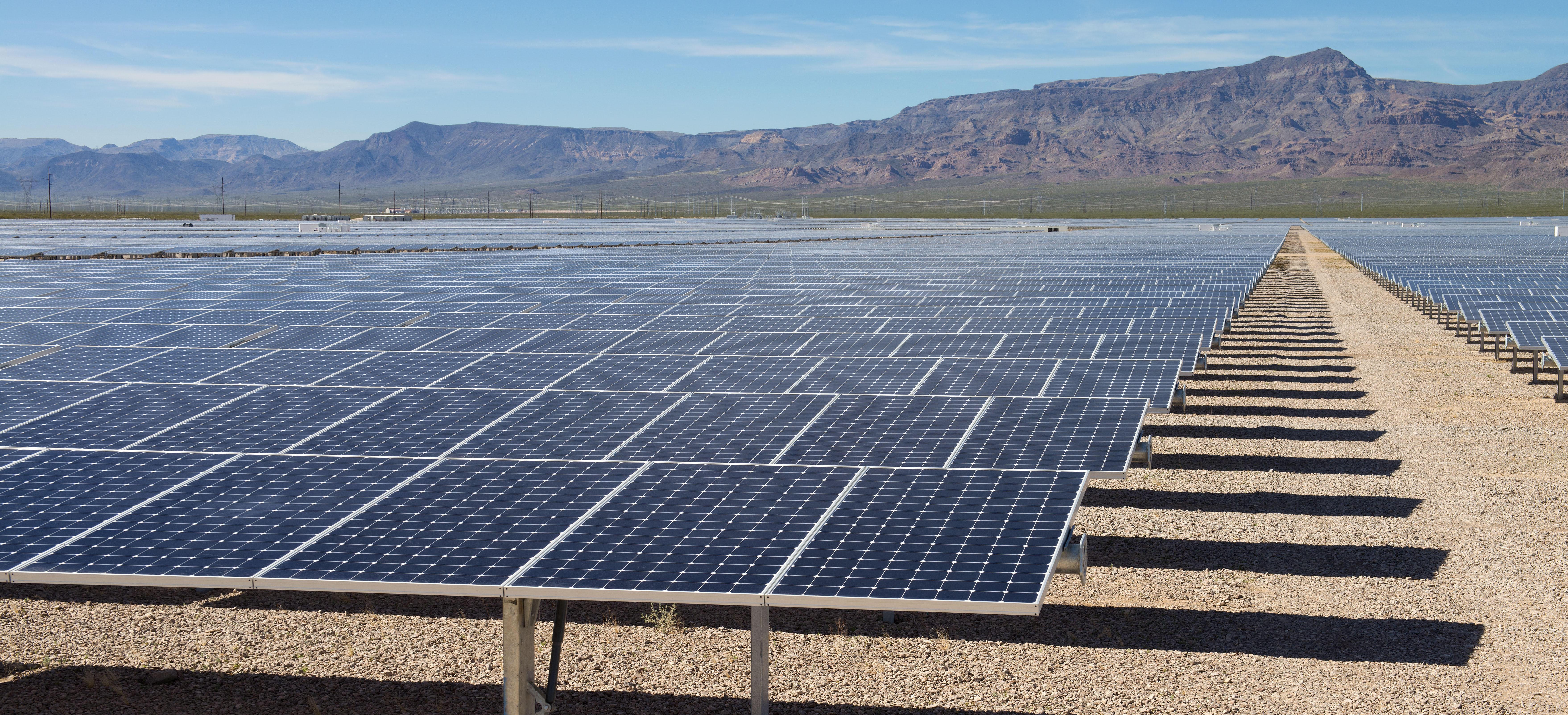 Solar field in Nevada