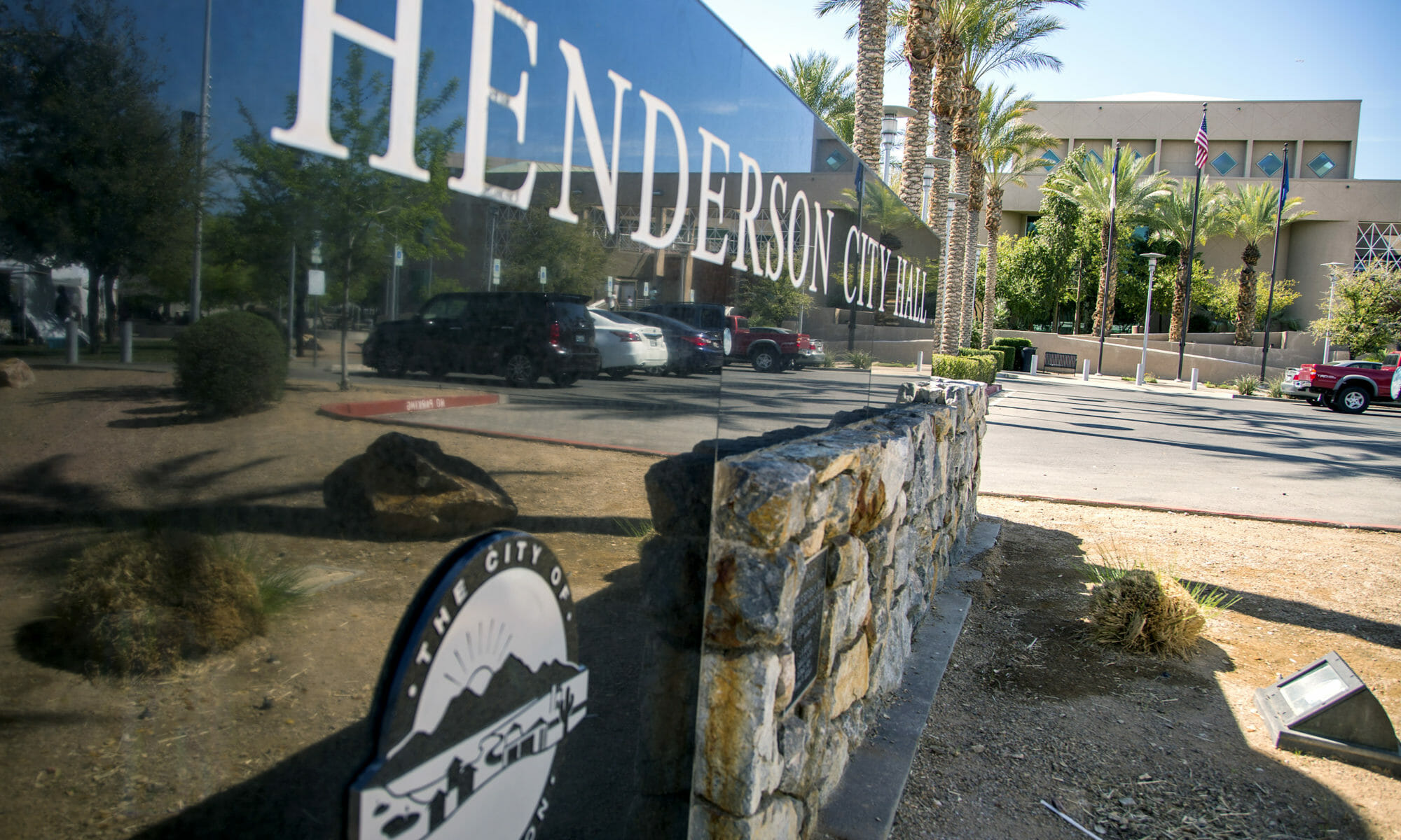 A picture of Henderson City Hall Sign