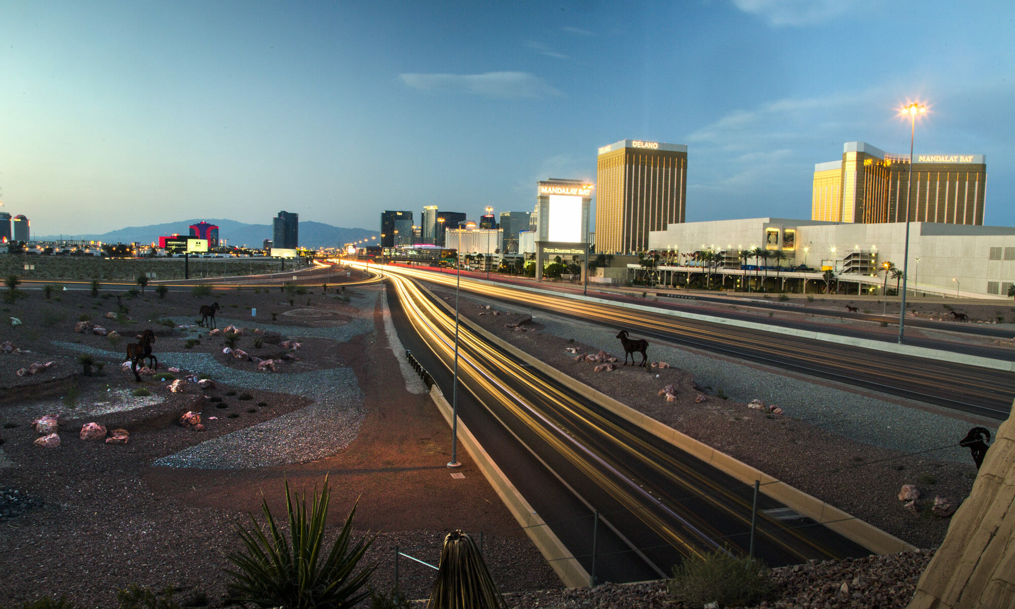 Early morning photo of the I-15 near the Las Vegas Strip