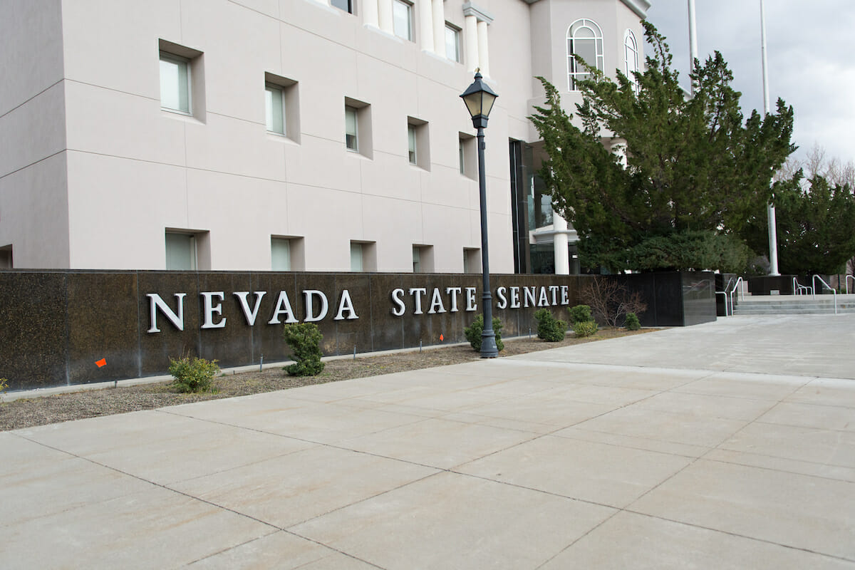 Front of the Nevada State Senate building