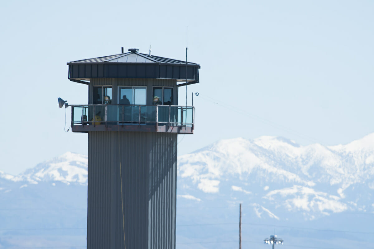 A guard tower at the Northern Nevada Correctional Center in Carson City
