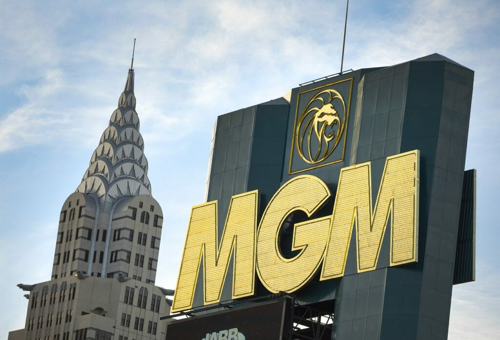 The MGM Grand hotel and casino sign