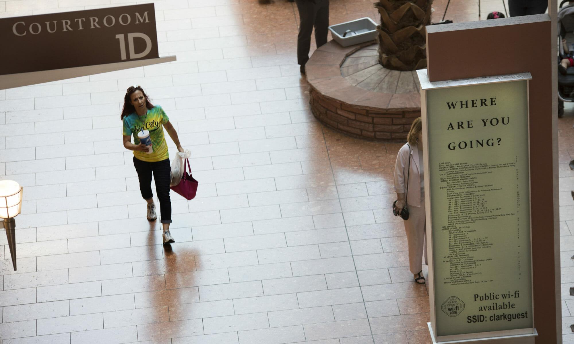 Foyer of Las Vegas court
