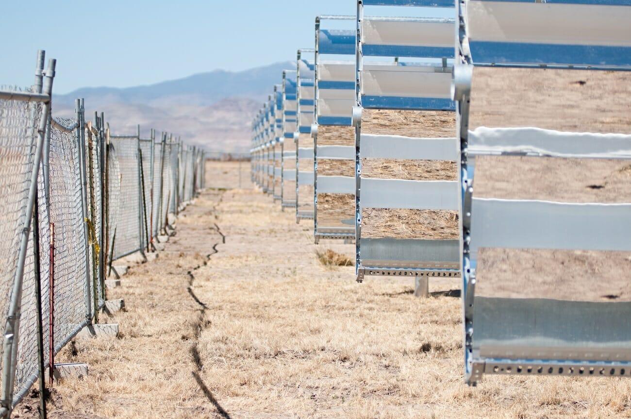 Solar panels at Apple's solar field in Yerington, Nevada