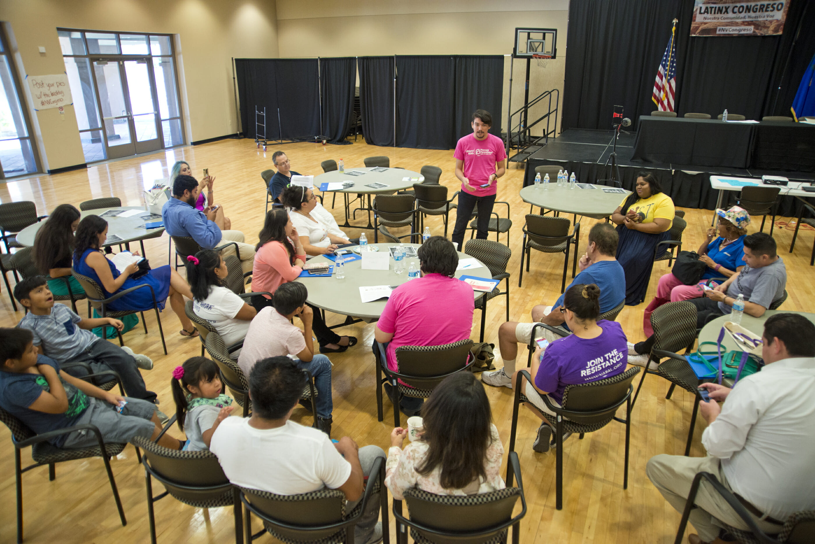 A group in chairs in the East Las Vegas Community Center