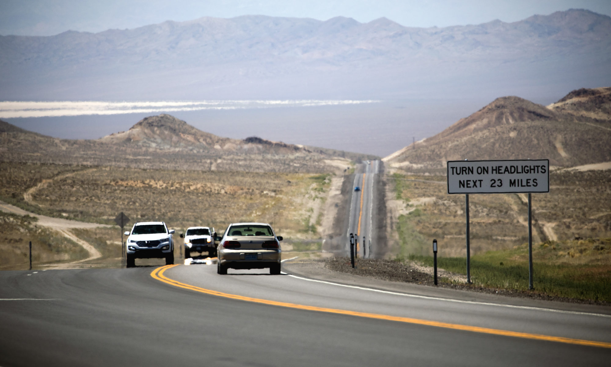 Vehicles on U.S. 95 south of Tonopah