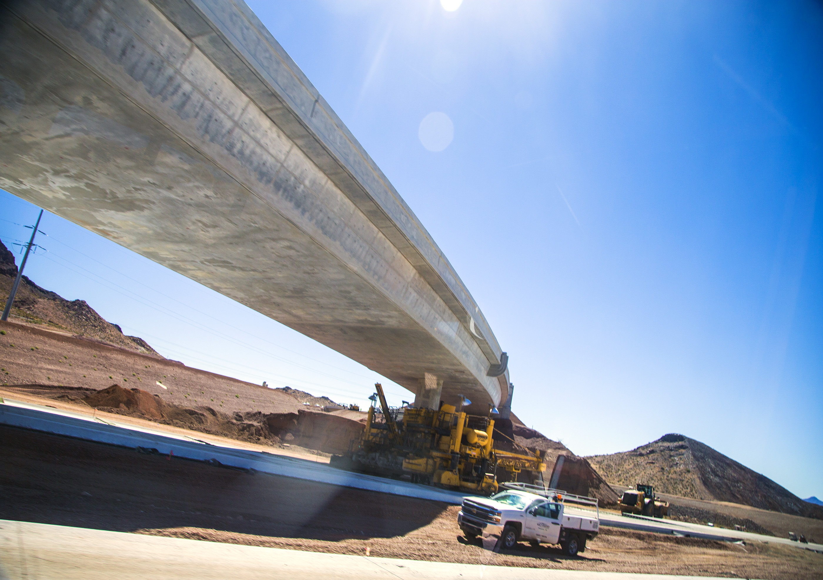 Interstate 11 during construction