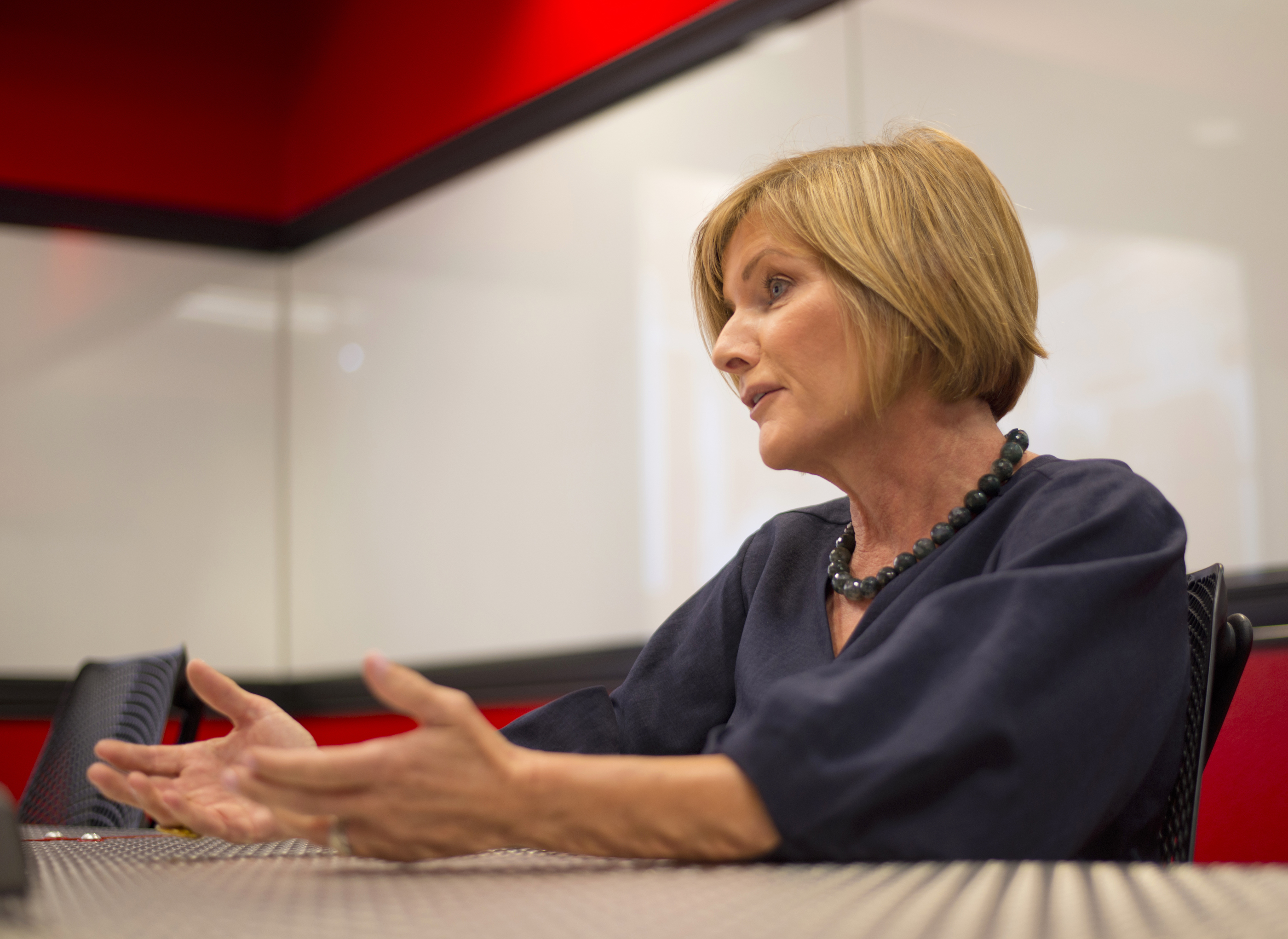Democratic 3rd Congressional District candidate Susie Lee as seen during an interview inside The Innevation Center in Las Vegas