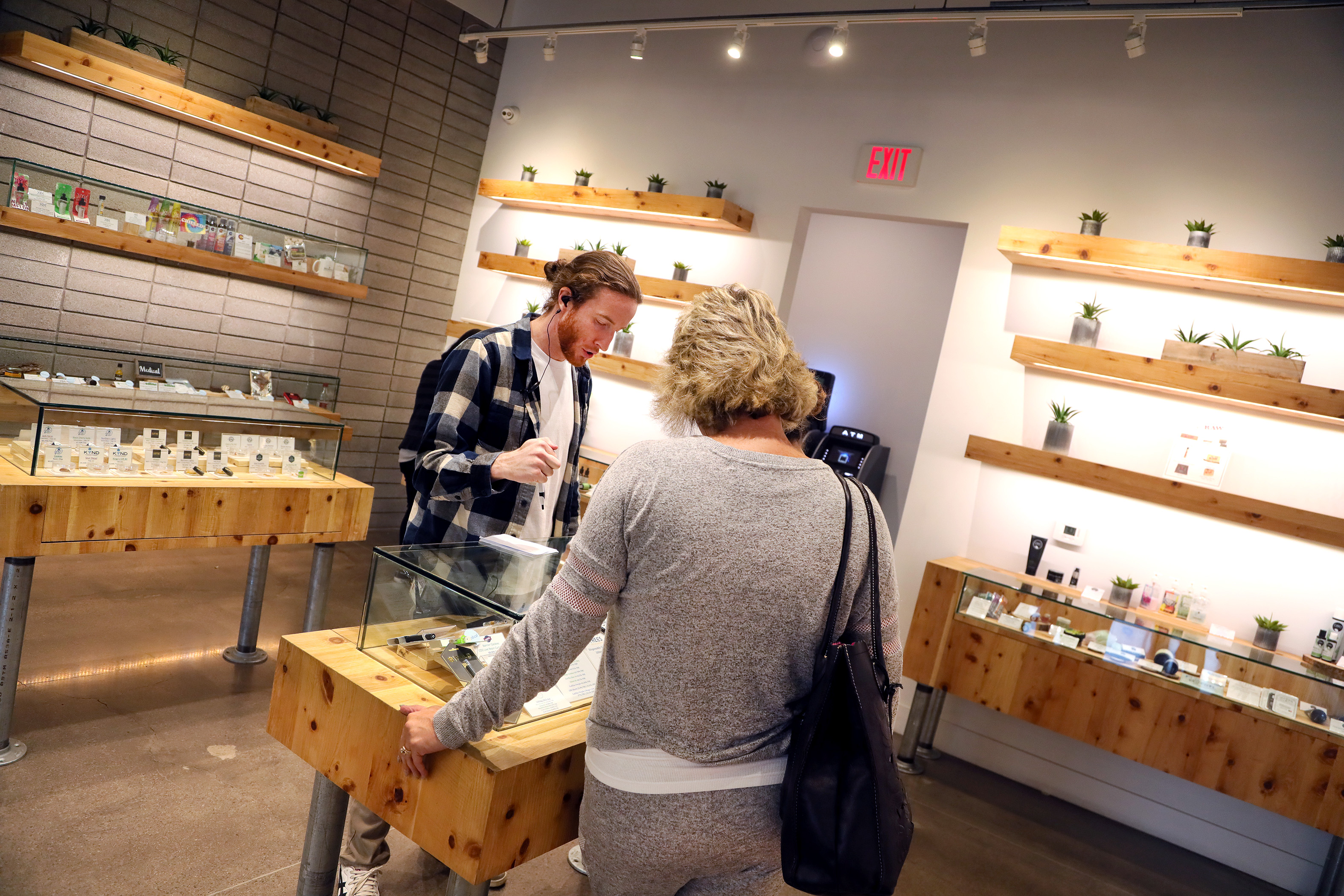 Customer at The Source dispensary