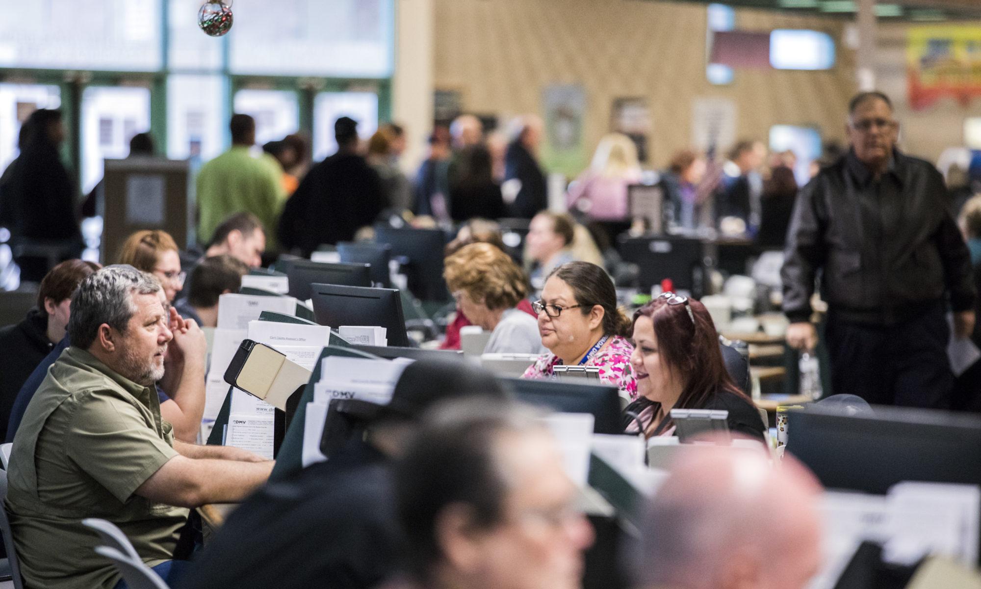 Customers at DMV