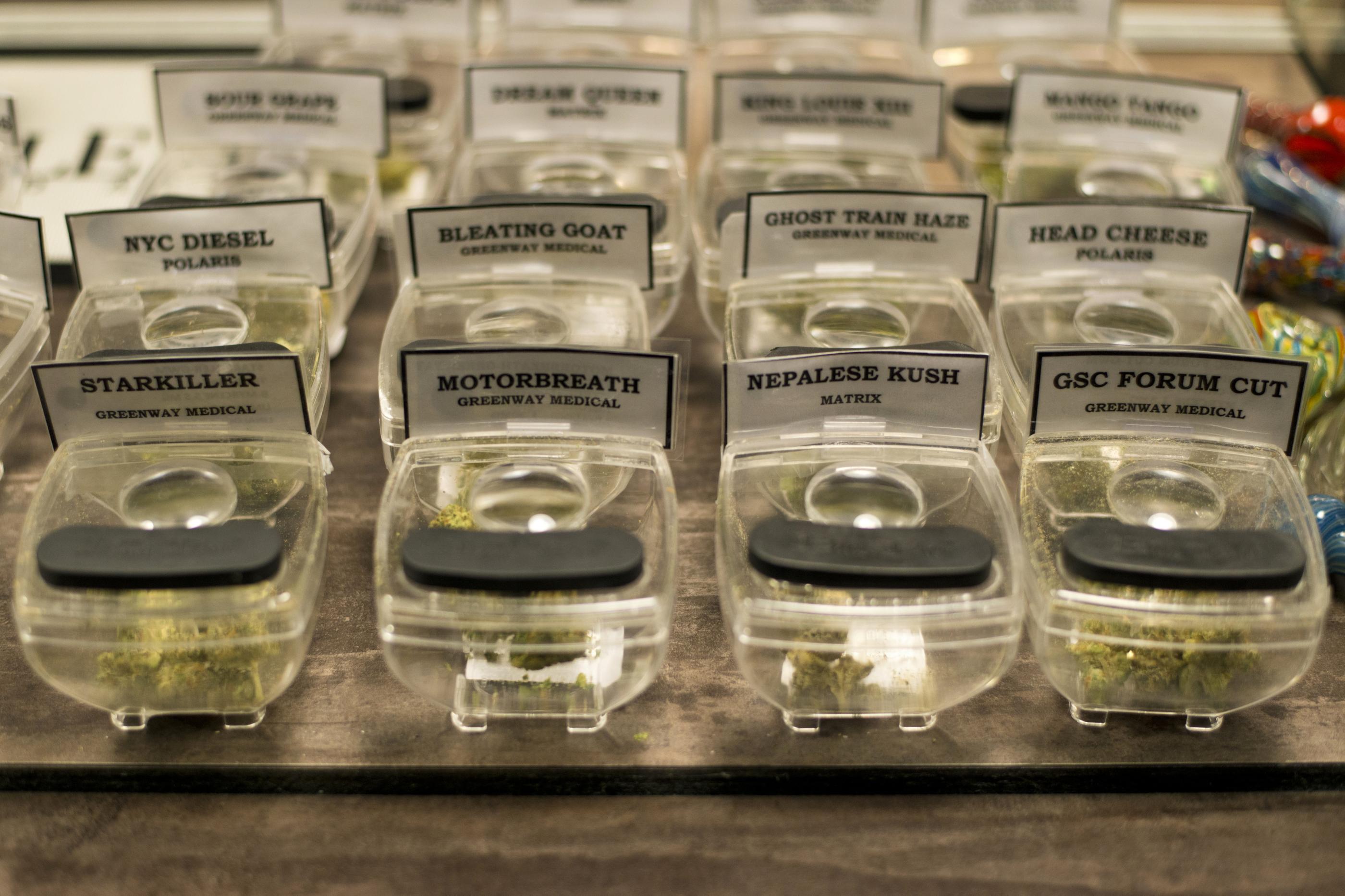 Marijuana samples