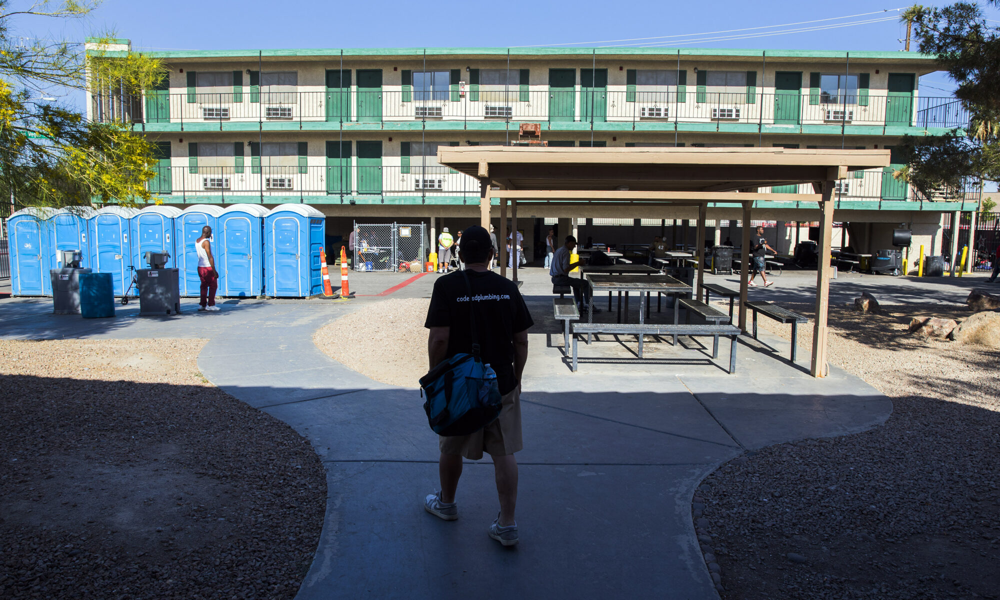 The city of Las Vegas operated The Courtyard provides day shelter in the homeless corridor on Foremaster Street