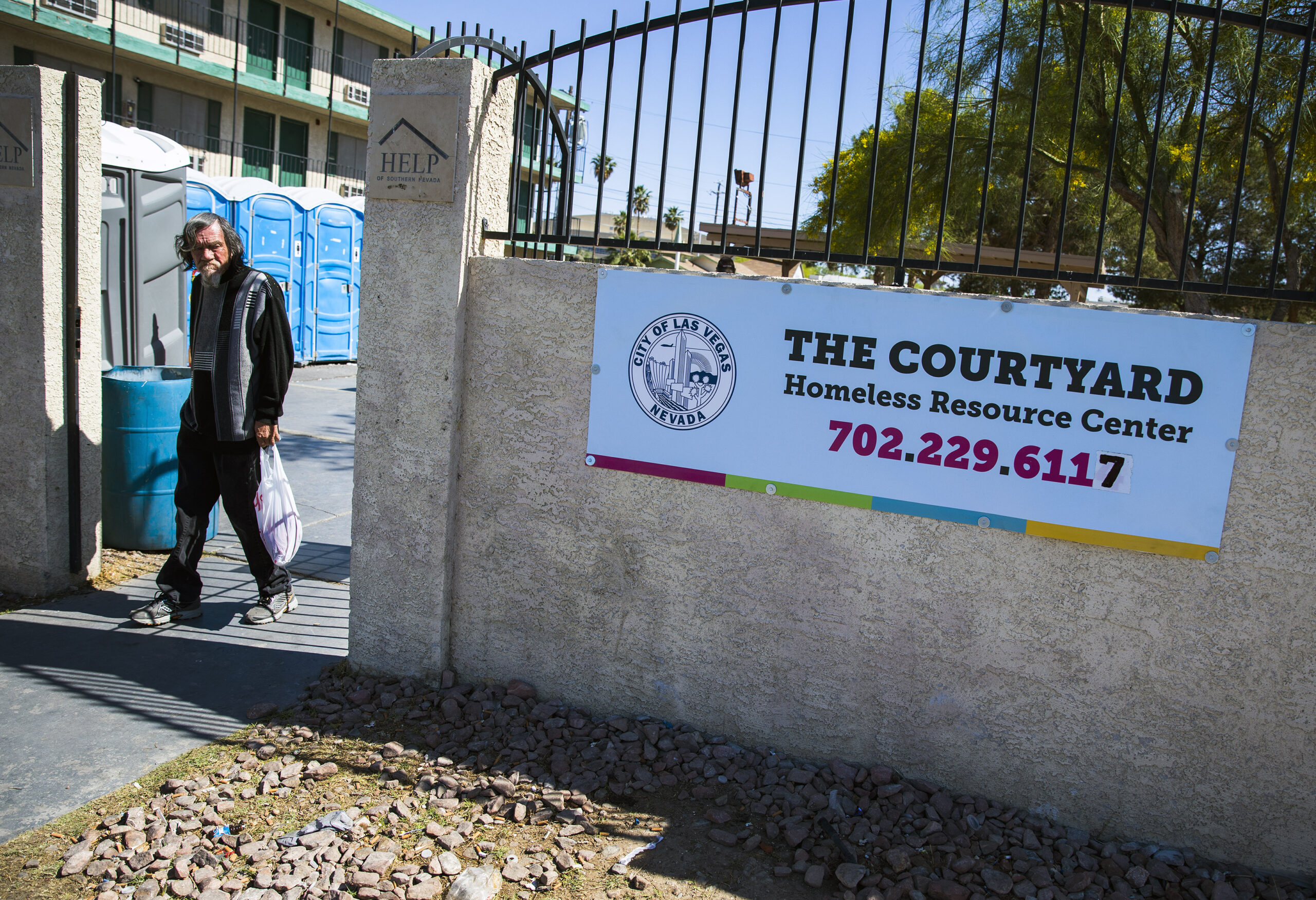 The Courtyard, a city of Las Vegas shelter for homeless people