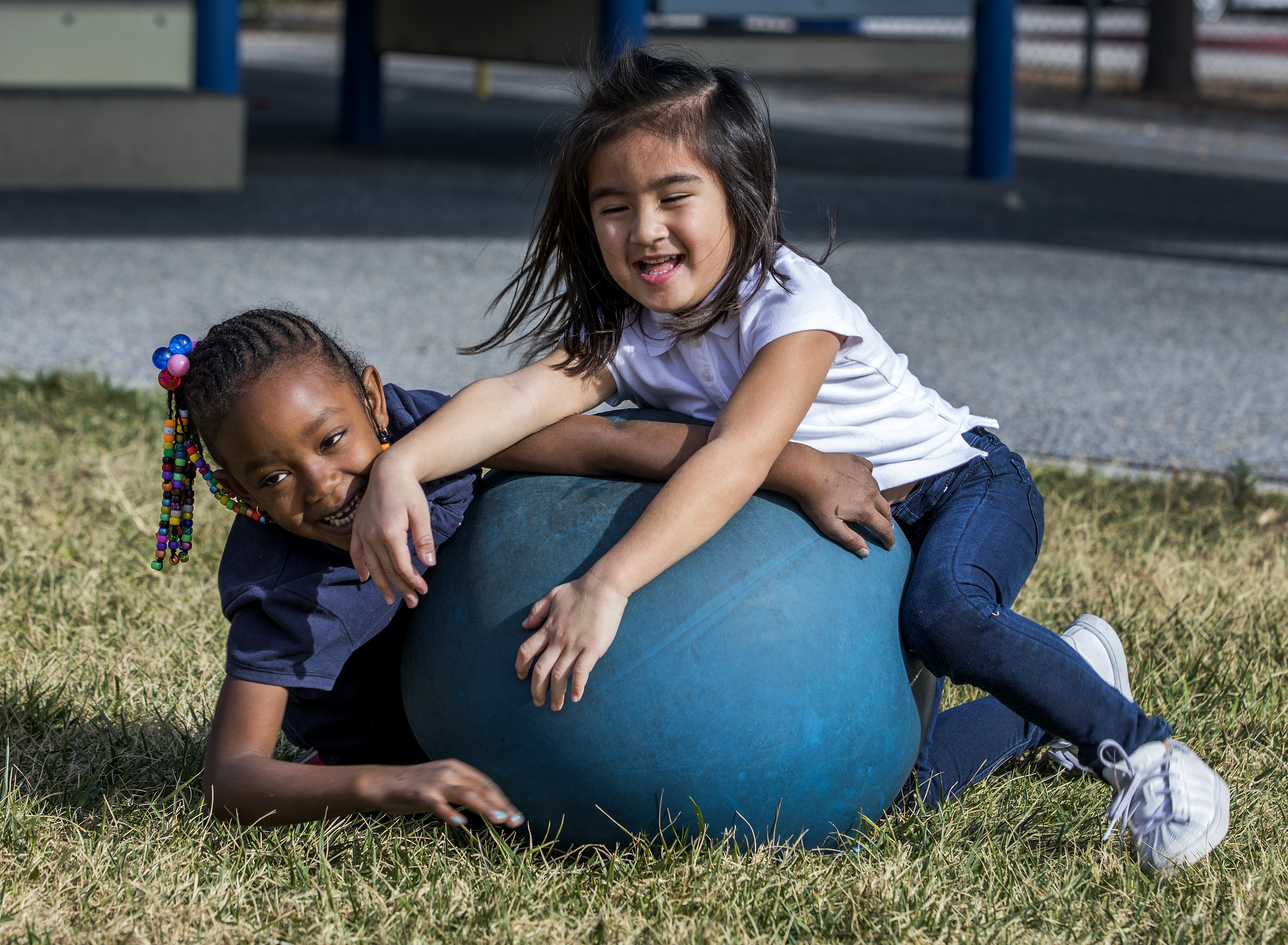 Pre Kindergarten Play Outside During Recess On Jan 18, 2018