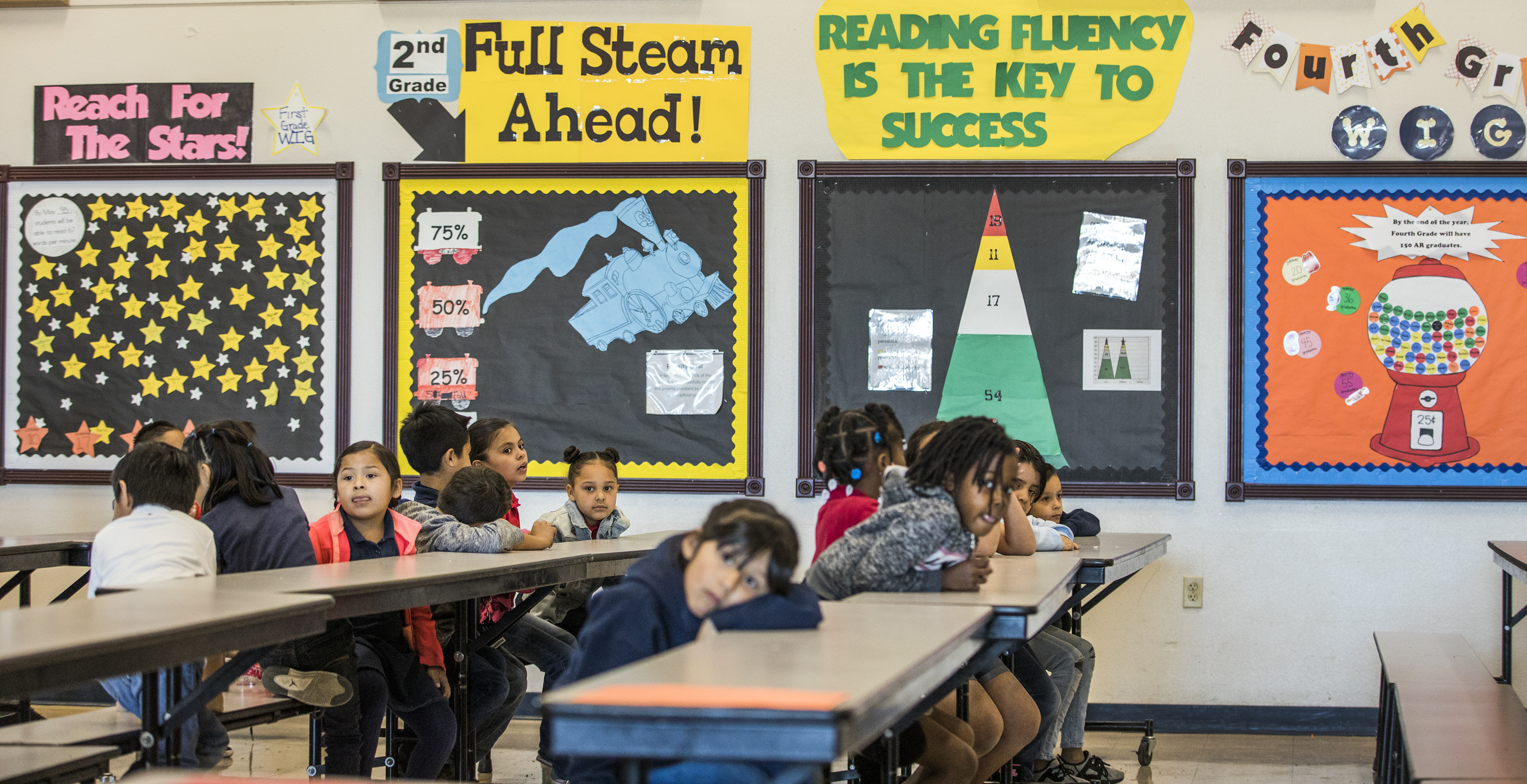 Bulletin Boards Charting Students Academic Progress Line A Wall In