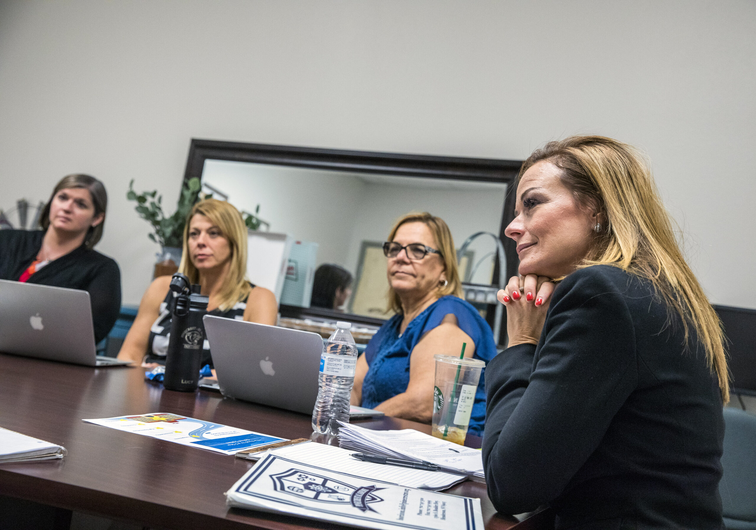 Carrie Buck meets with principals