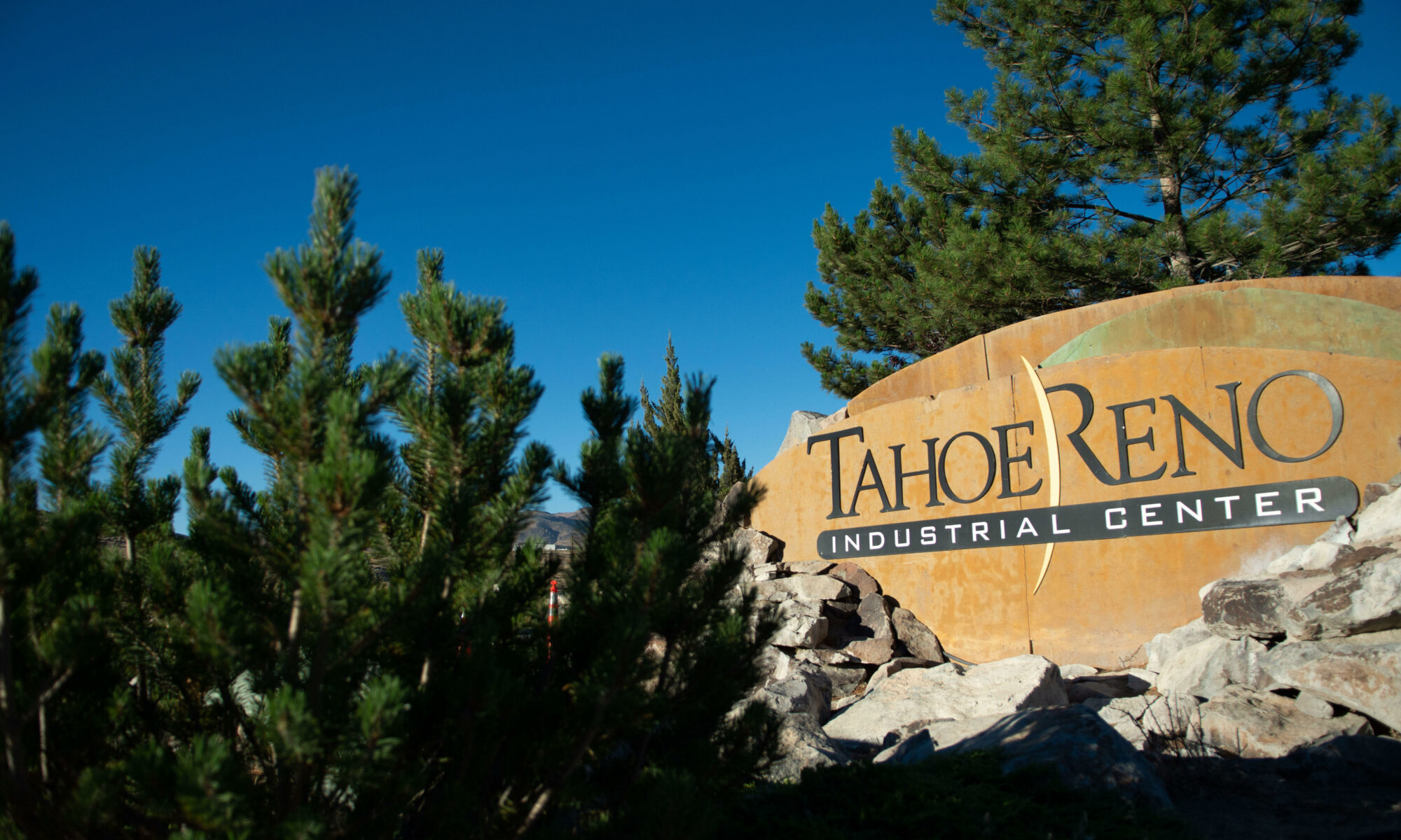 Signage at the entrance to the Tahoe Reno Industrial Center
