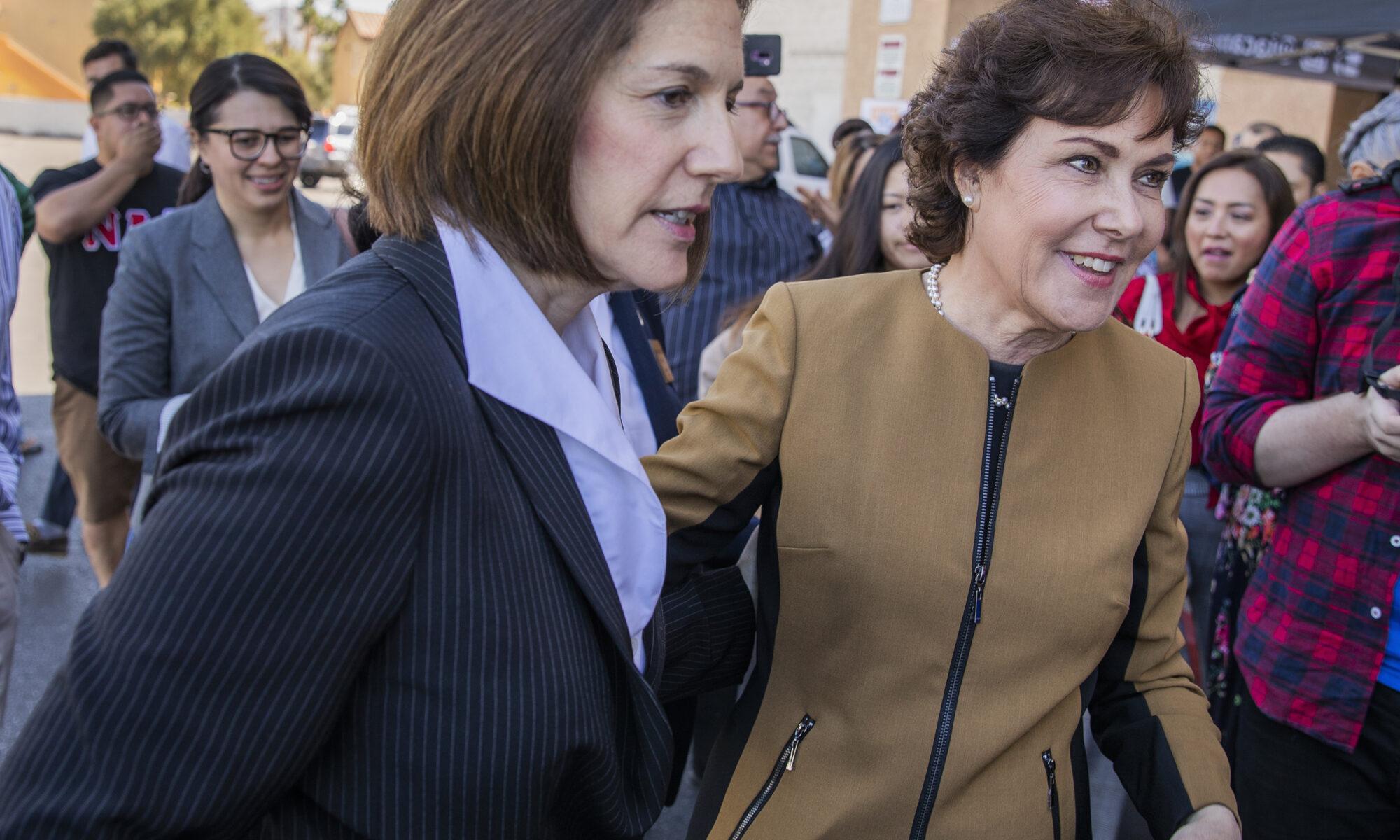 Catherine Cortez Masto, left, (D-Nev.) and Congresswoman Jacky Rosen