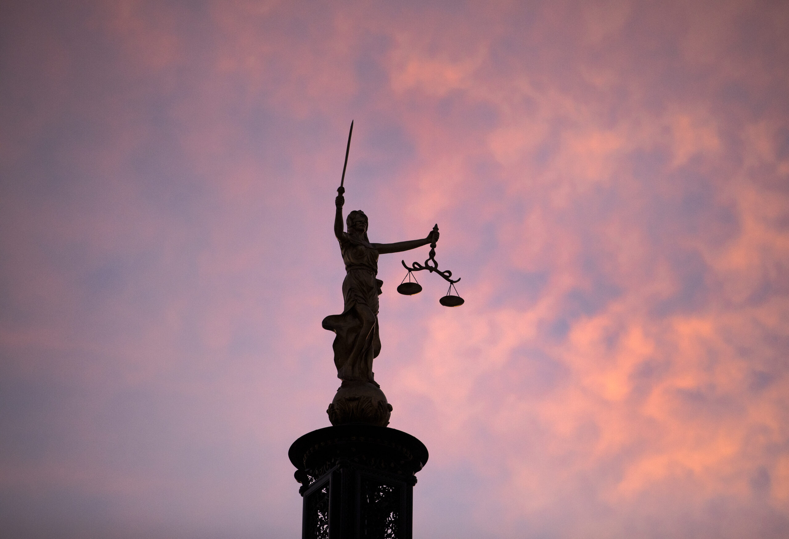 Lady Justice perched atop the Nevada Supreme Court building
