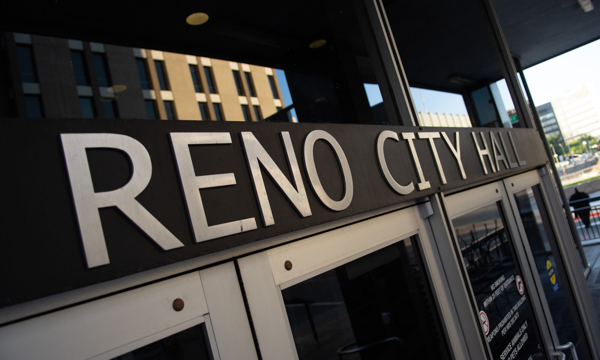 Reno City Hall sign
