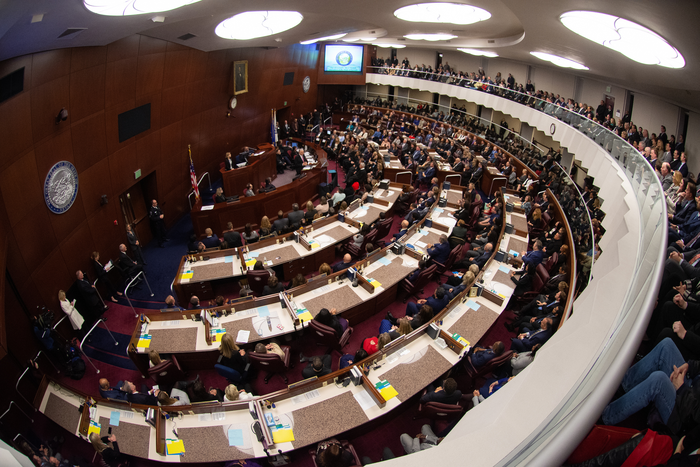 Assembly Chambers during speech