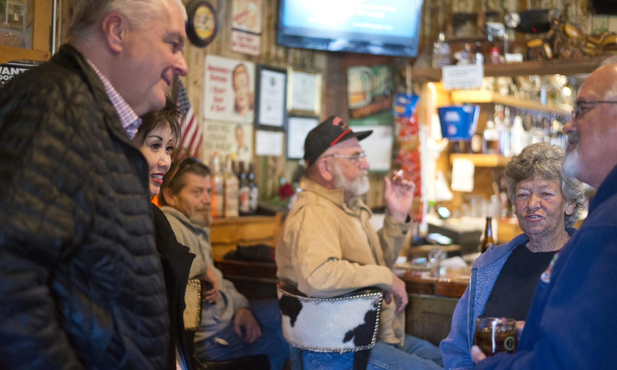 Sisolak visits Beatty restaurant