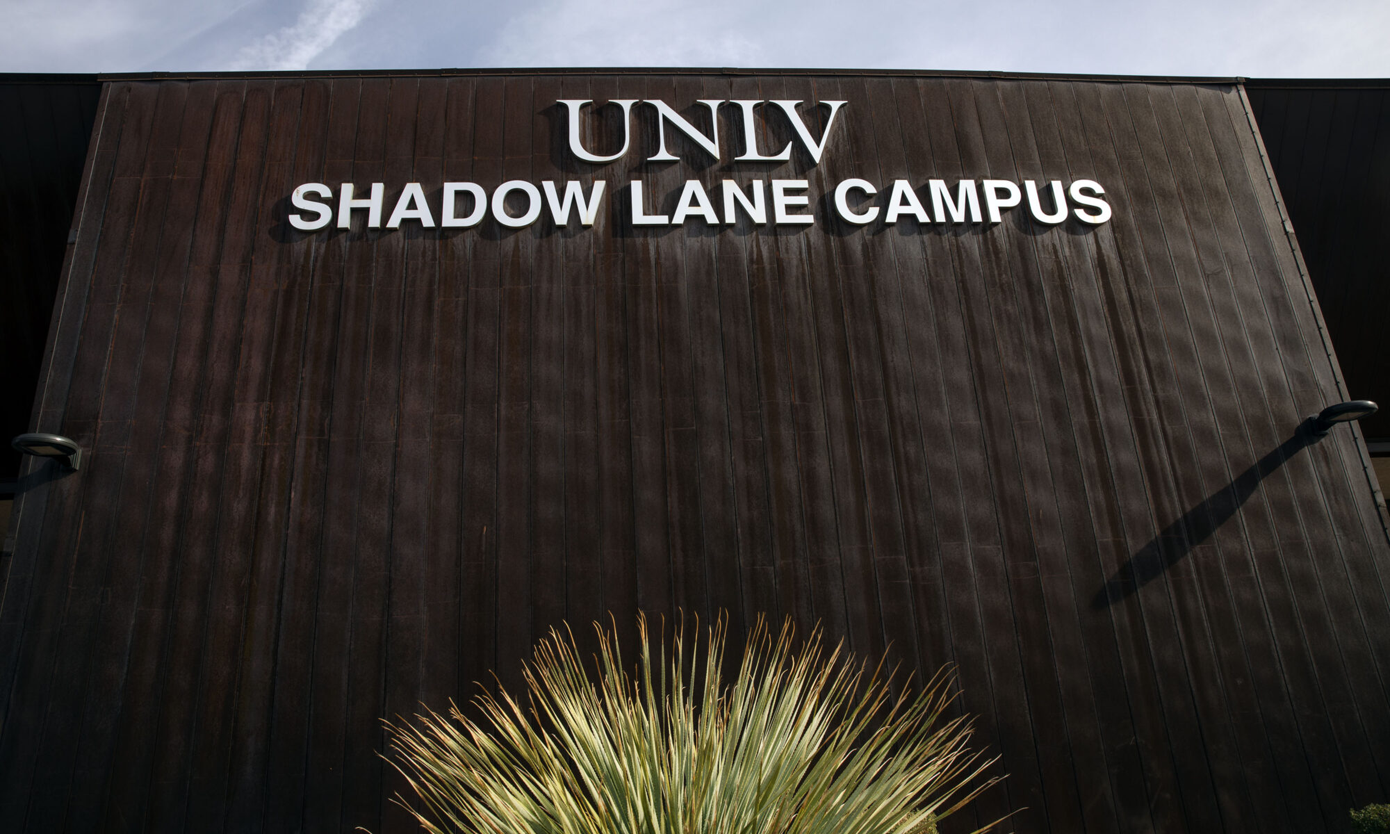 The sign at the UNLV Shadow Lane Campus