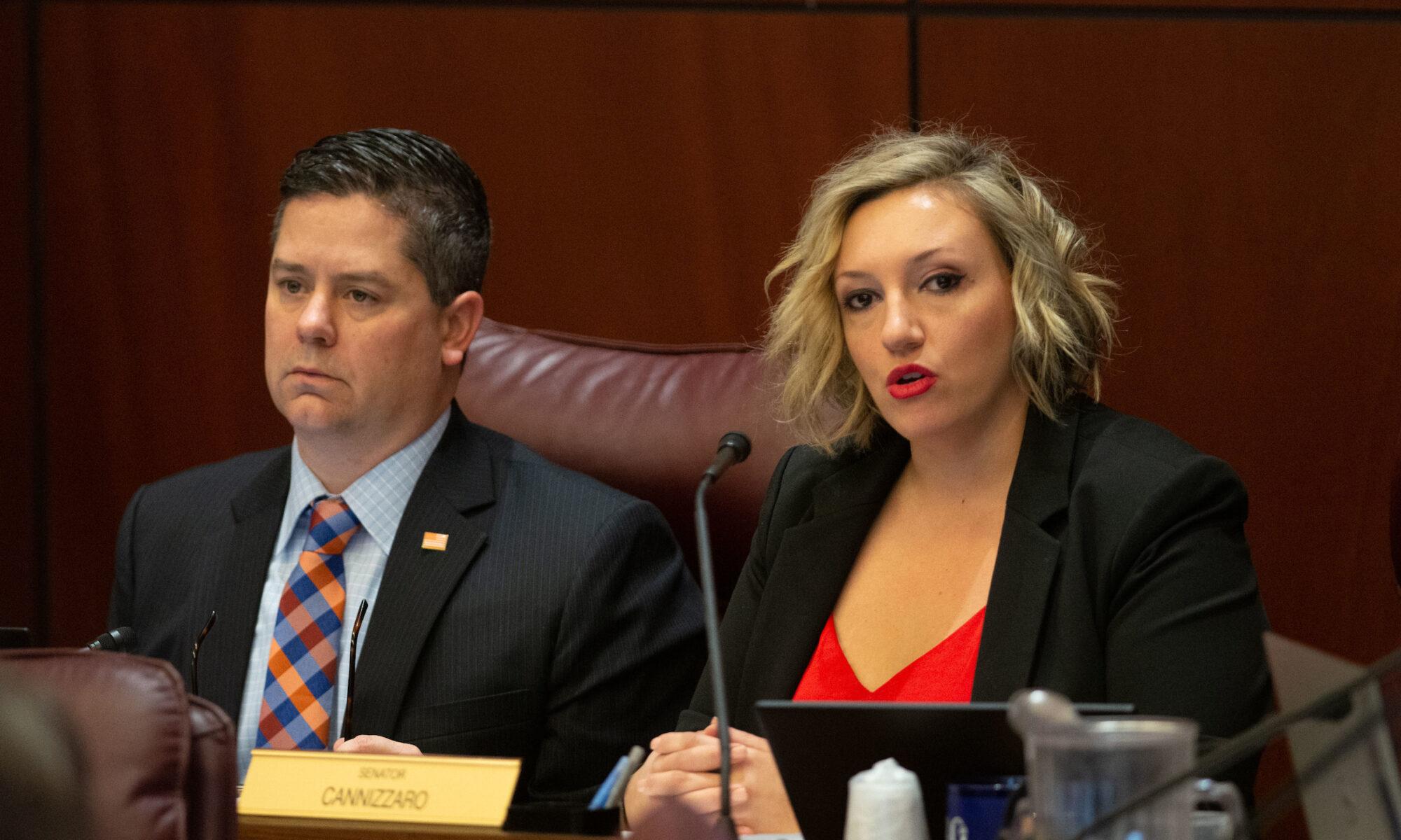Assemblyman Steve Yeager and Senator Nicole Cannizzaro,