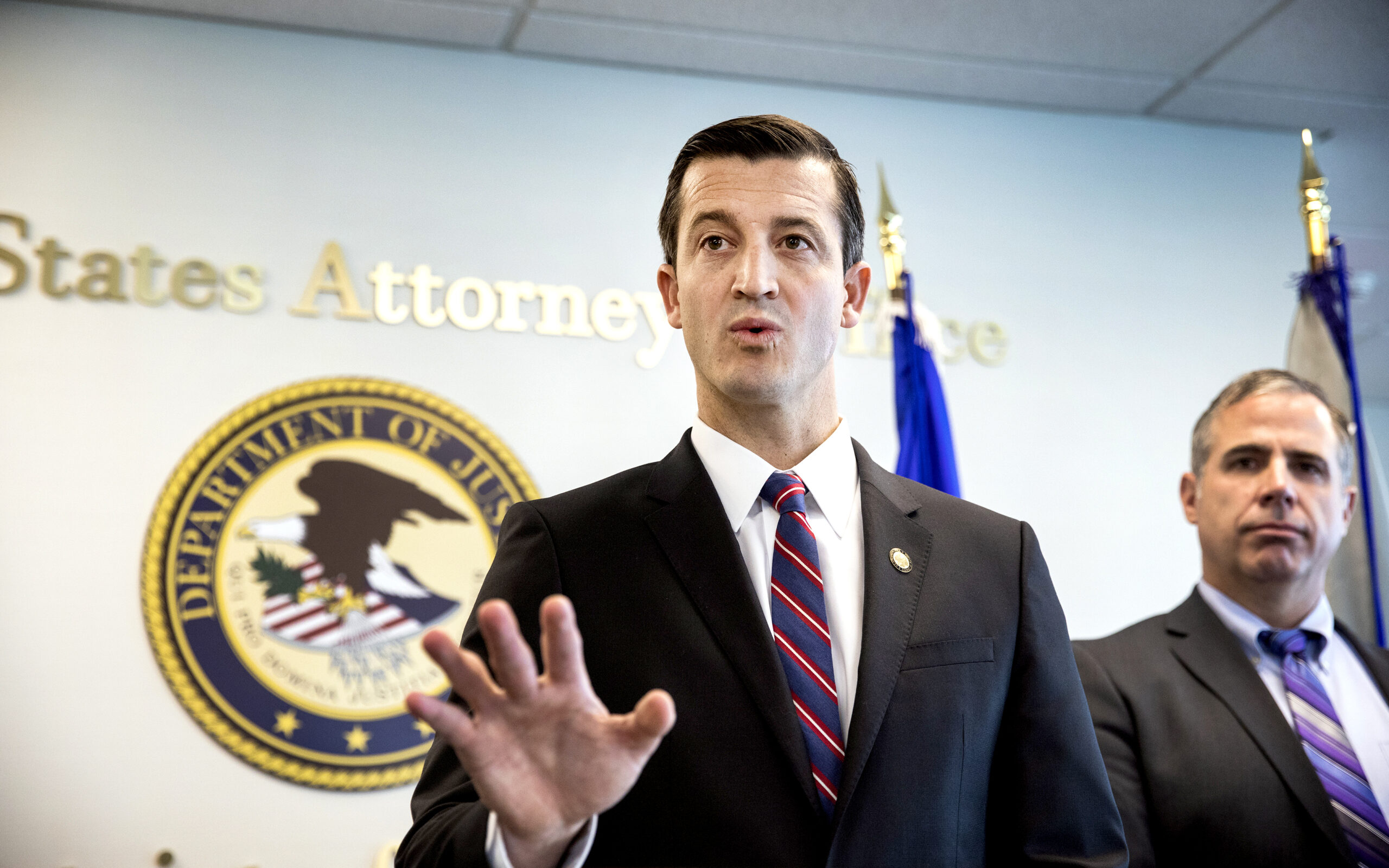 Nicholas A. Trutanich, United States Attorney for the District of Nevada and Ray Johnson, Assistant Special Agent in Charge for the Federal Bureau of Investigation