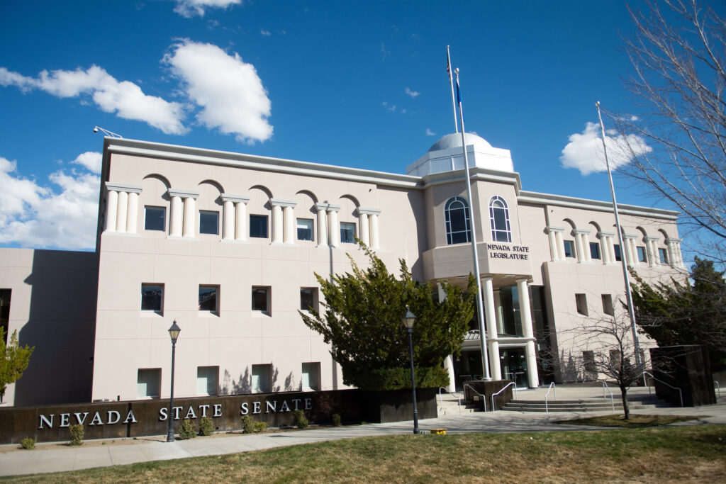 Front of the Nevada Legislature building