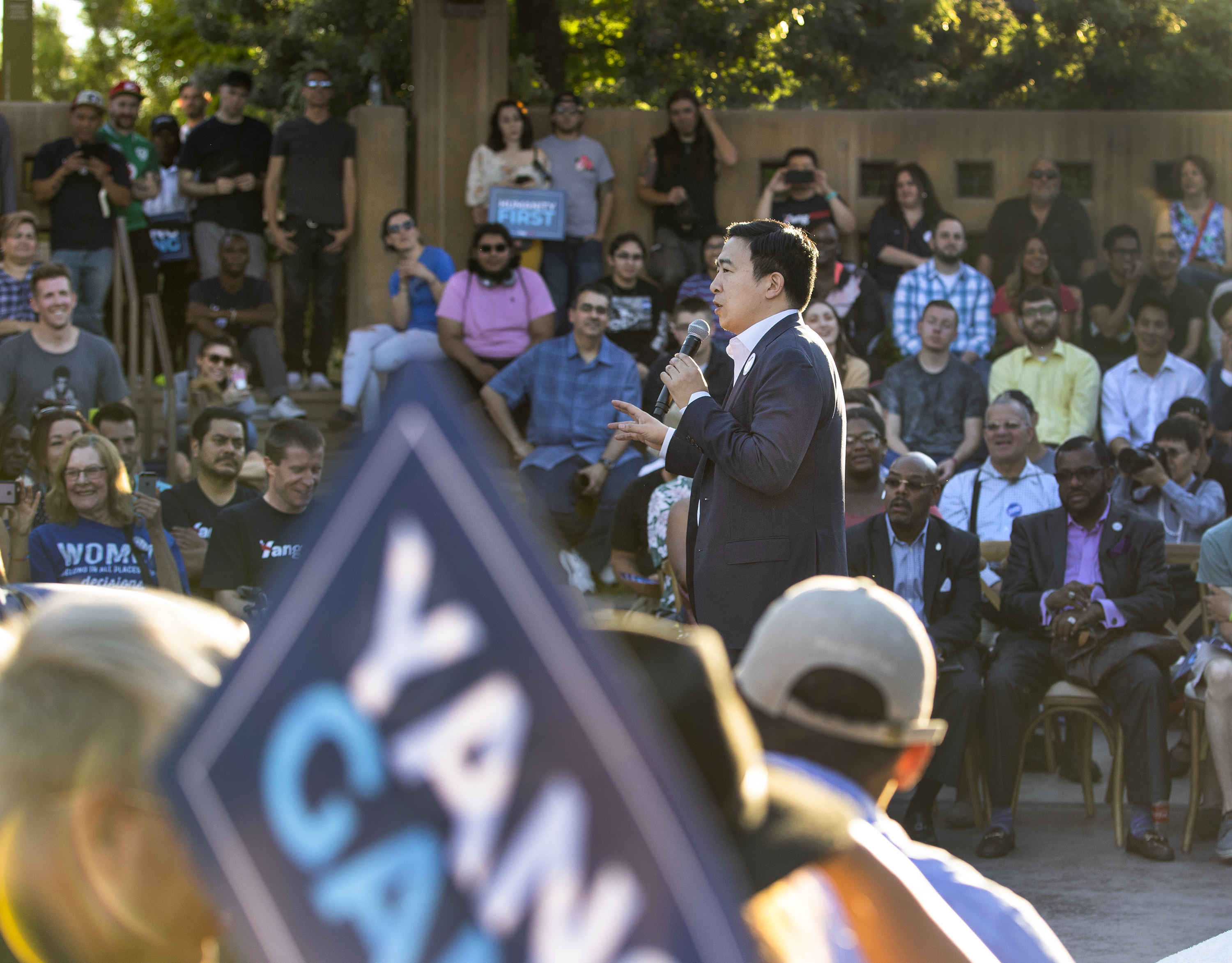 In Las Vegas, presidential hopeful Andrew Yang says Nevada is 'Ground Zero' for disruption from automation