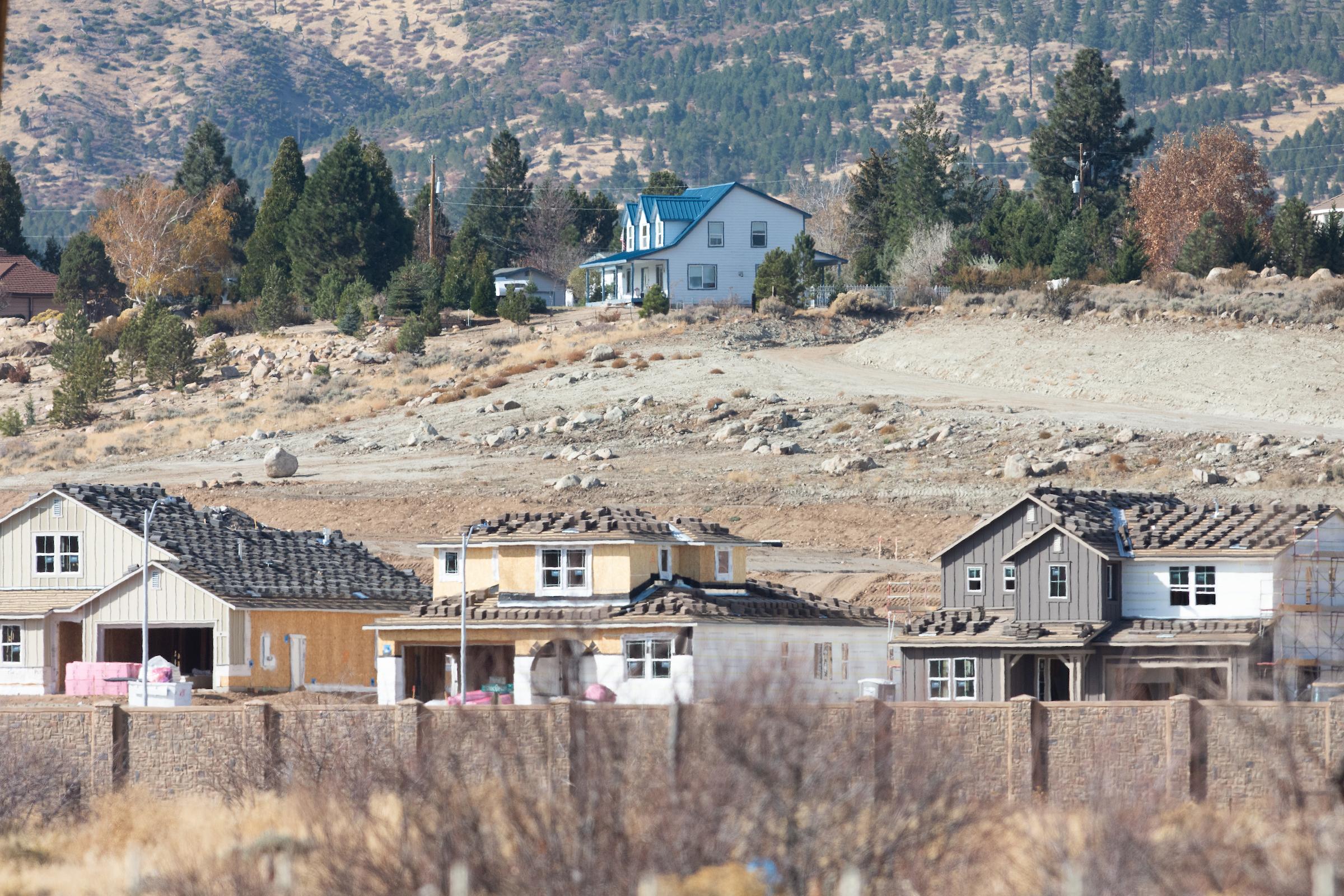 Construction in Verdi, on the western edge of Reno