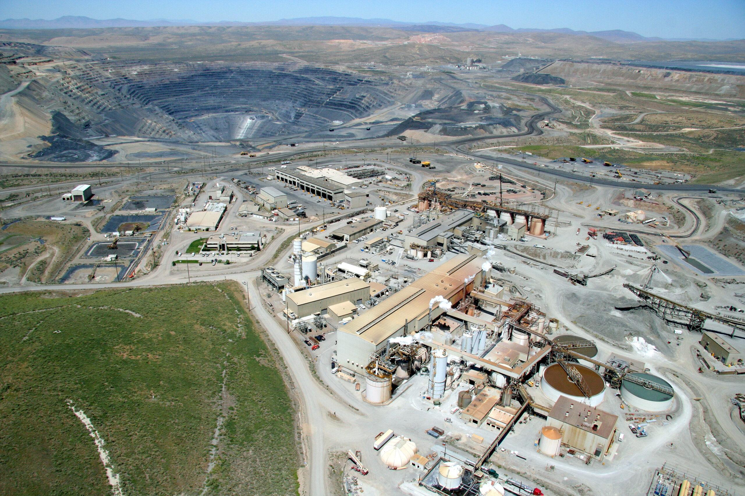 An overhead view of Barrick's Goldstrike Mine