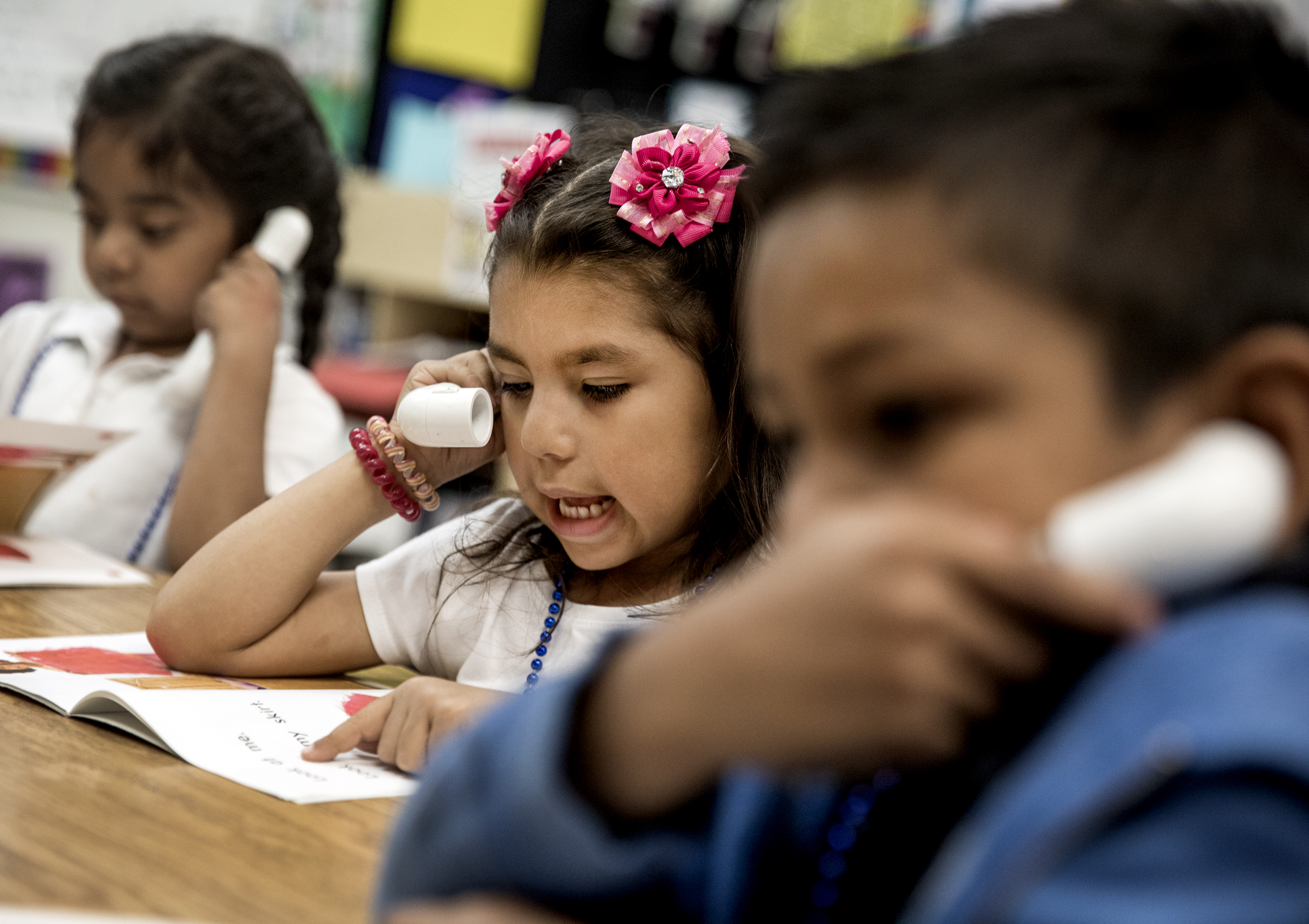 Students in one Las Vegas class have something in common — late birthdays and no pre-kindergarten experience