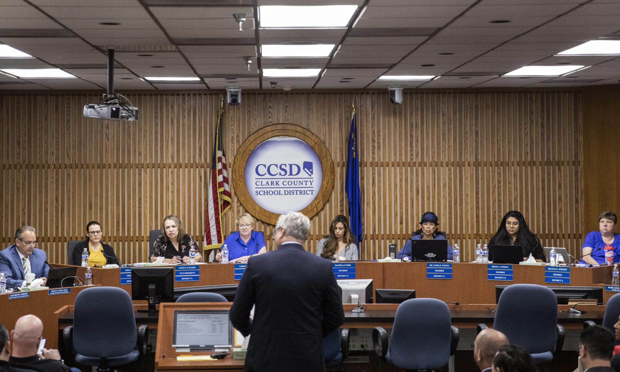 The Clark County School Board of Trustees and Superintendent Jesus Jara