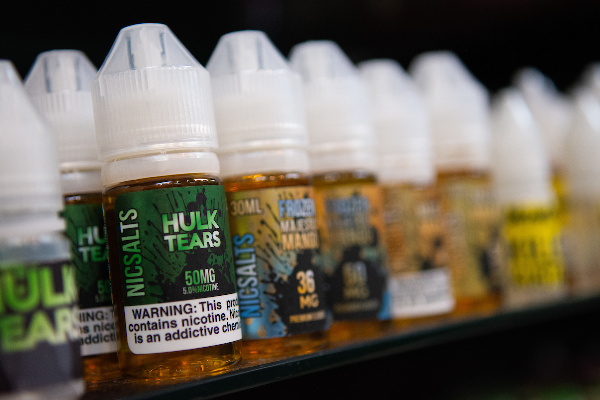 Vaping-related illness found in Nevada; Trump proposes ban on flavored e-liquids